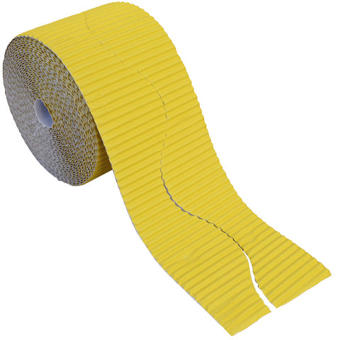 Bordette Corrugated Display Roll - Canary Yellow (2 x 7.5m) 15 Metres