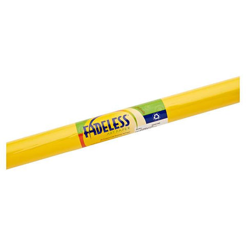 Fadeless Paper Roll Canary Yellow 121.9cm 3.6m