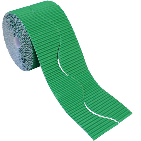 Bordette Corrugated Display Roll - Emerald (2 x 7.5m) 15 Metres
