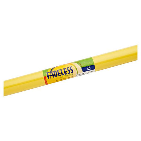 Fadeless Paper Roll Sunshine Yellow 121.9cm 3.6m