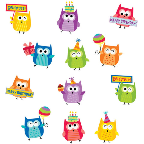 Happy Birthday Owls Stickers