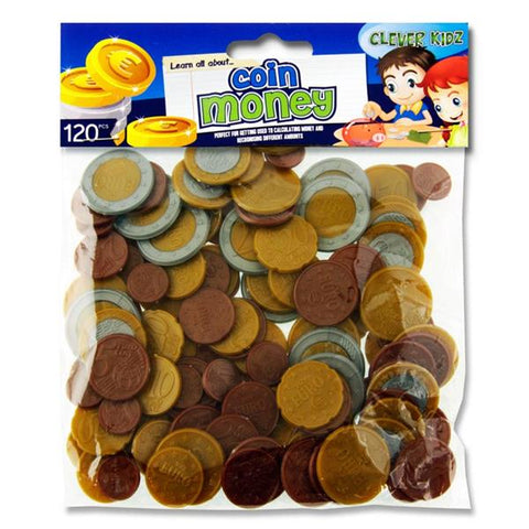 Clever Kidz Coin Euro Money Set 120 Pieces