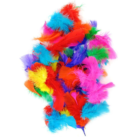 Collage Feathers - Mixed Colours (50gm approx.)