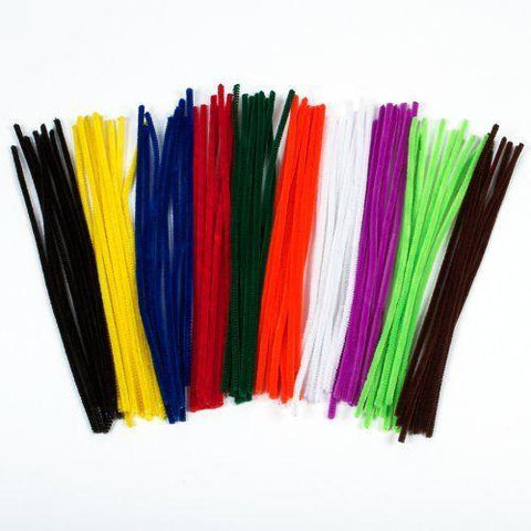 Pipe Cleaners - Assorted Colours 15cm Pack of 250