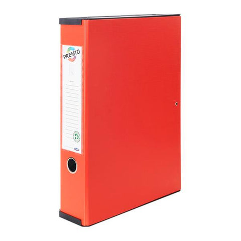 Premto PP Box File - Ketchup Red