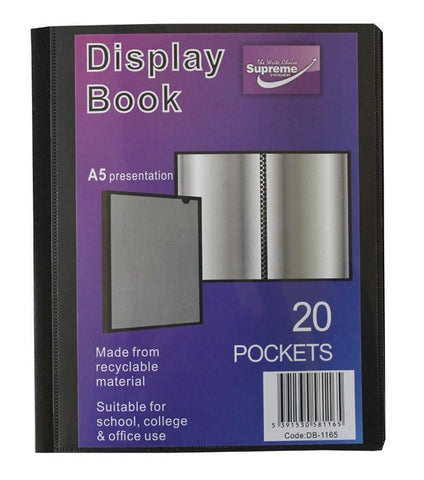 Presentation Display Book - A5 20 Pocket (40 Pages) - Supreme