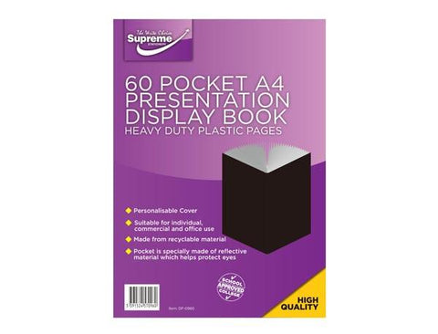 Presentation Display Book - A4 60 Pocket (120 Pages) - Supreme