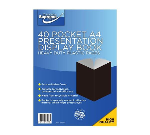 Presentation Display Book - A4 40 Pocket (80 Pages) - Supreme