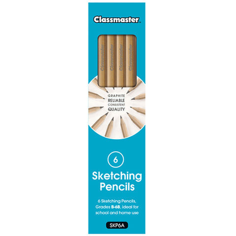 Classmaster Sketching Pencils Pack of 6