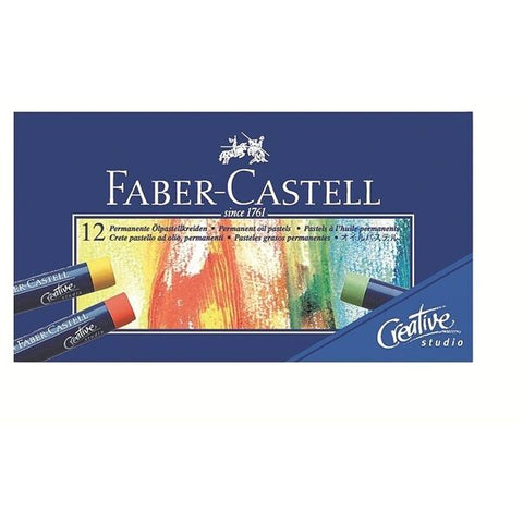 Faber-Castell Studio Quality Permanent Oil Pastels Pack of 12