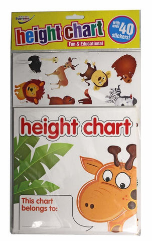 Height Chart - Fun & Educational with Over 40 Stickers