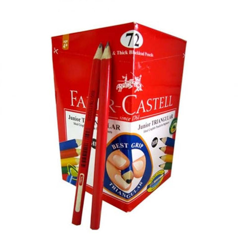 Faber-Castell HB Junior Grip Triangular Pencils - Box of 72