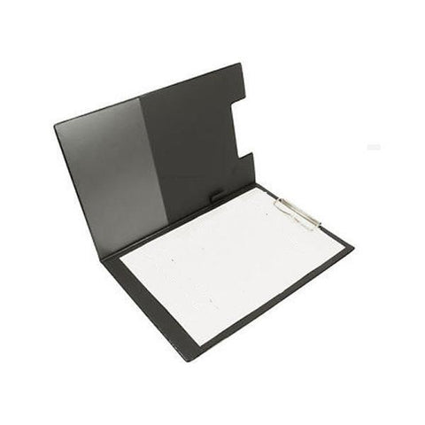 Q-Connect Black A4/Foolscap PVC Foldover Clipboard KF01300