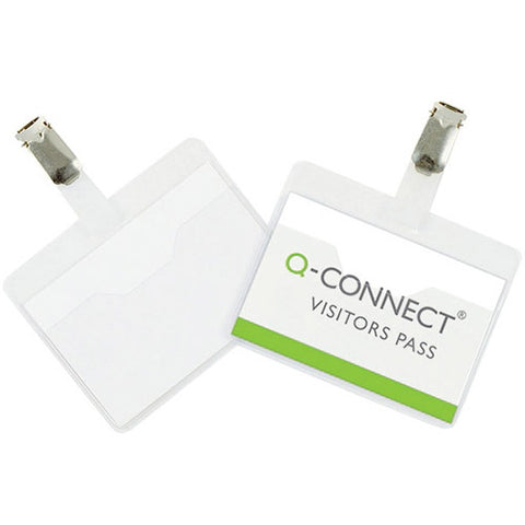 Q-Connect Visitor Badge 60x90mm (25 Pack)