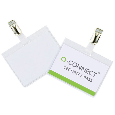 Q-Connect Security Badge 60x90mm (25 Pack)