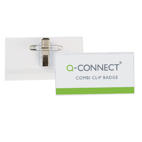 Q-Connect Combination Badge 40x75mm (50 Pack)