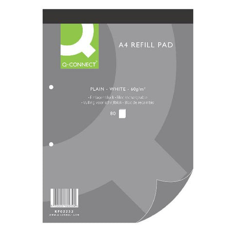 Q-Connect Plain A4 Refill Pad 80 leaf KF02232