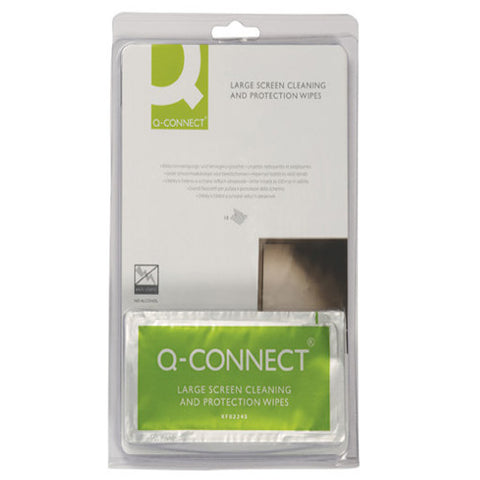 Q-Connect Large Screen/Protection Wipes (10 Pack)