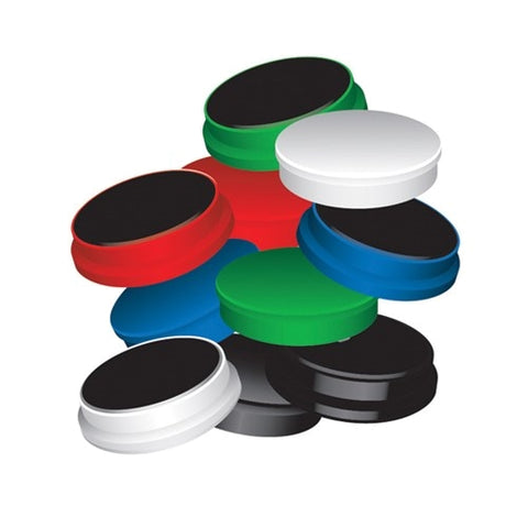 Q-Connect Round Magnet 25mm Assorted (10 Pack)