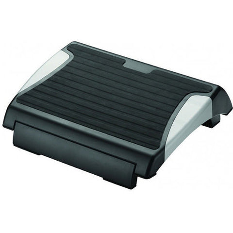 Q-Connect Black and Silver Rubber Foot Rest - Anti-Slip