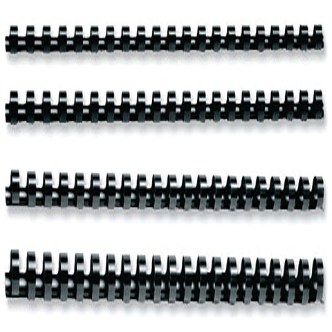 Q-Connect Black 16mm Binding Combs (50 Pack) KF24024