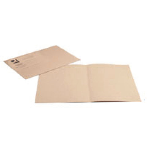 Q-Connect Square Cut Folder Lightweight 180gsm Foolscap Buff (Pack of 100)