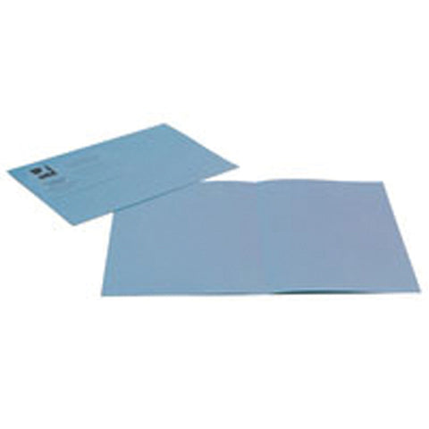Q-Connect Square Cut Folder Lightweight 180gsm Foolscap Blue (Pack of 100)