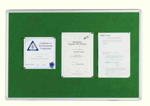 Q-Connect 1800x1200mm Aluminium Frame Green Notice Board 54034205