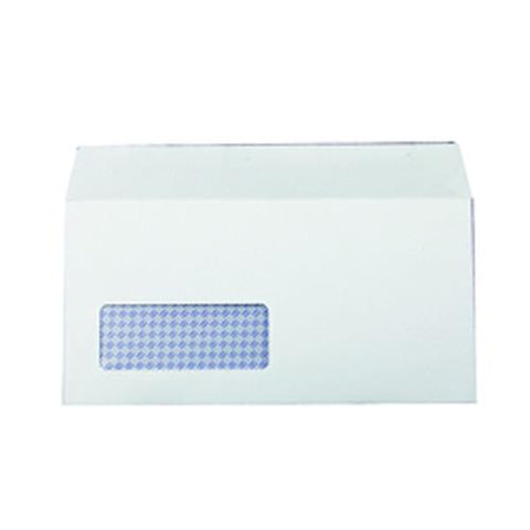 Supreme DL Envelopes 80gsm Window Peel and Seal White (Pack of 1000)