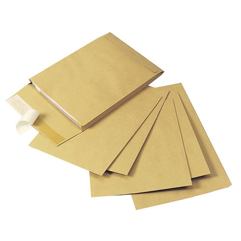 Q-Connect 324 x 229 x 25mm Manilla Gusset Envelope (100 Pack)