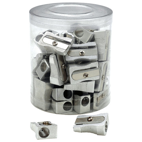 Essentials Tub of Single Hole Metal Sharpeners Tub of 30