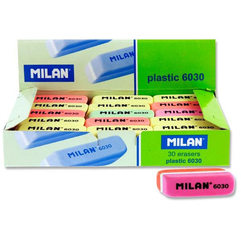 Milan 6030 Coloured Erasers Assorted Box of 30