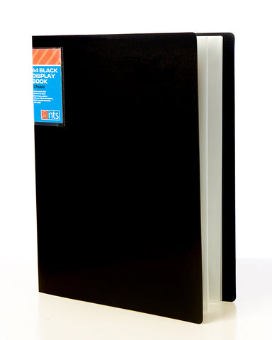 NTS A4 40 Pocket Display Book - Black