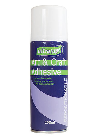 Ultratape Art & Craft Repositional Spray Adhesive 200ml Aerosol