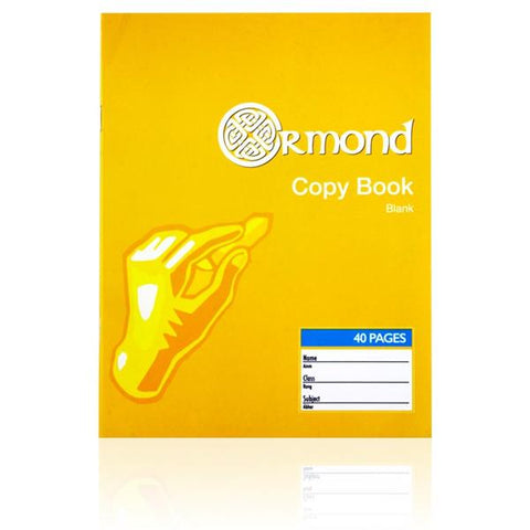 Ormond Copy Book Blank - 40 Pages