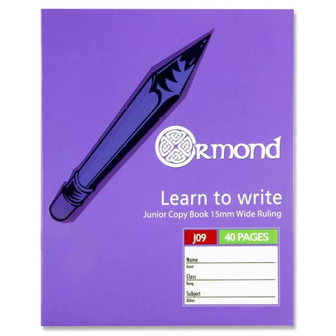Ormond Junior Copy Book J09 40 Pages