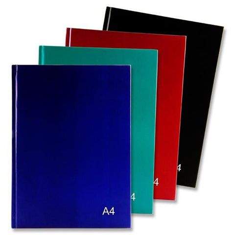 Premier A4 160pg Hardcover Notebook - Bold Assorted Pack 4