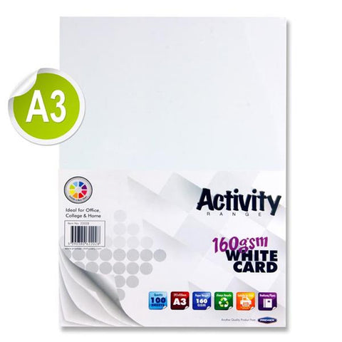 A3 White Card 100 Sheets 160gm