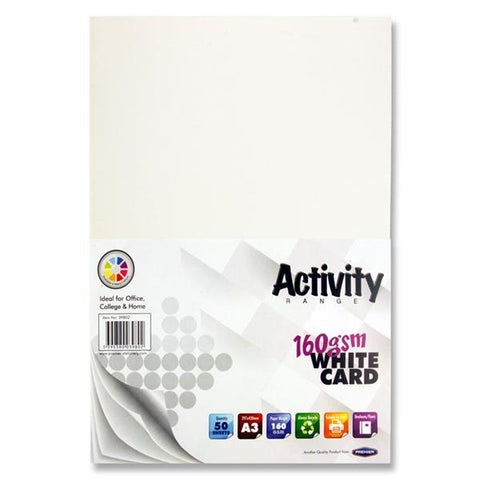 A3 White Card 50 Sheets 160gm