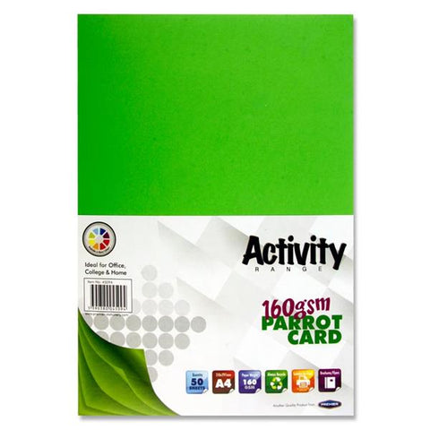 A4 Activity Card 50 Sheets 160gm - Parrot