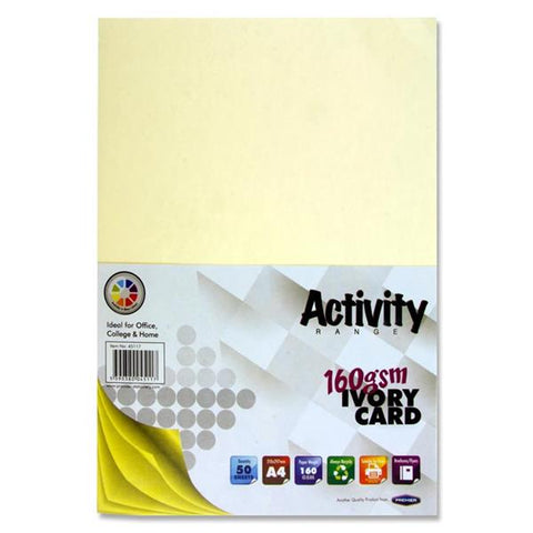 A4 Activity Card 50 Sheets 160gm - Ivory