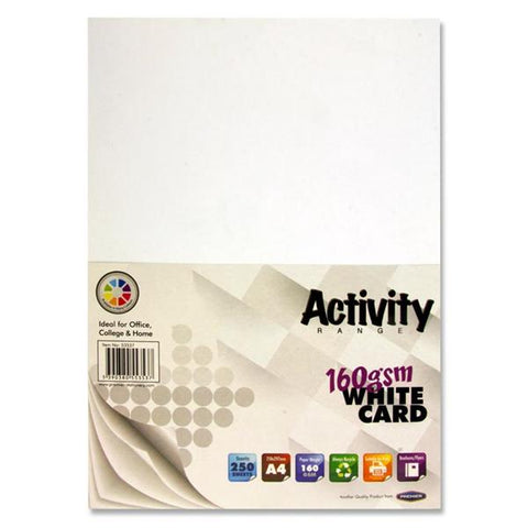 A4 Activity Card 250 Sheets 160gm - White
