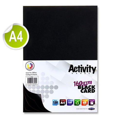 A4 Activity Card 100 Sheets 160gm - Black