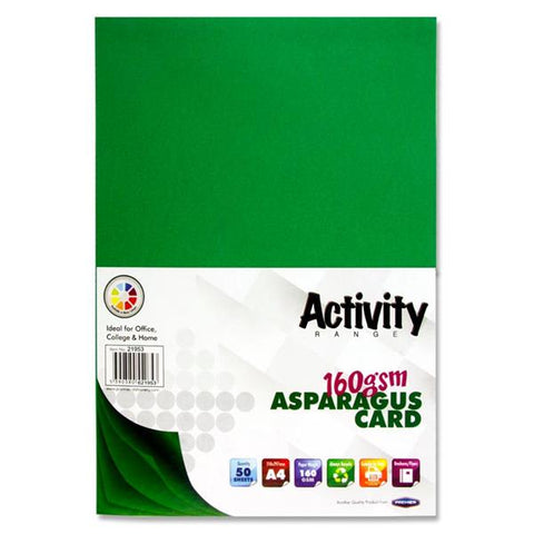 A4 Activity Card 50 Sheets 160gm - Asparagus