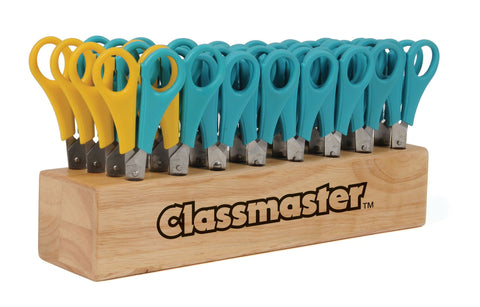 Classmaster Wooden Scissor Block - 32 Scissors (26 Right & 6 Left)