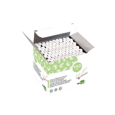 Liderpapel Dustless Chalk White 100 Pieces Box 77662