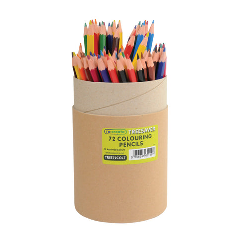 Re:create Treesaver Recycled Assorted Colouring Pencils Tube of 72