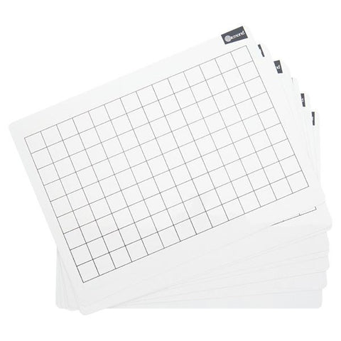Ormond Dry Wipe Boards Set of 10 - 2cm Grid