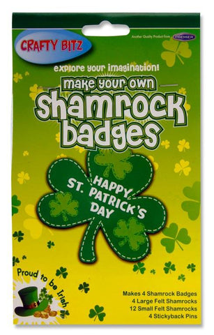 Make Your Own Shamrock Badges - Set of 4