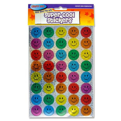 Crafty Bitz Super Cool Holographic Stickers - Smiley